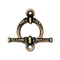 Clasp Set, Heirloom, Brass Oxide Finish Pewter